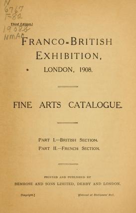 "Cover of ""Franco-British exhibition, London, 1908"""