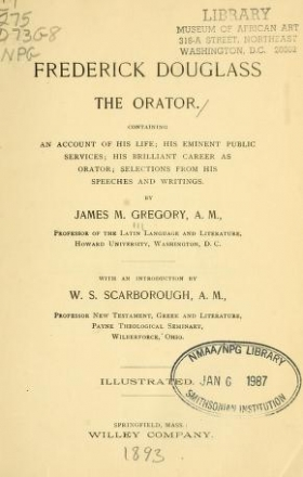 "Cover of ""Frederick Douglass the orator"""