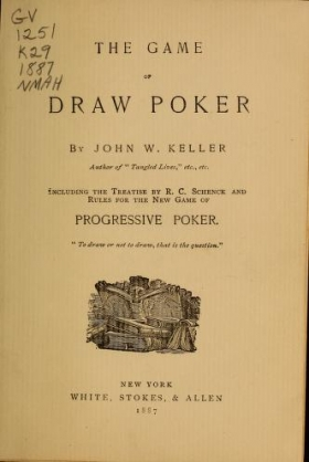 "Cover of ""The game of draw poker"""