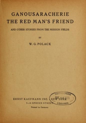 "Cover of ""Ganousaracherie, the red man's friend"""