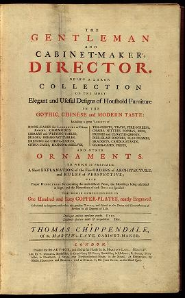 """Cover of """"The gentleman and cabinet-maker's director"""""""