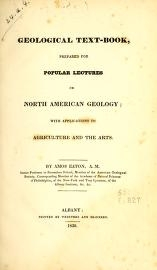 "Cover of ""Geological text-book, prepared for popular lectures on North American geology with applications to agriculture and the arts /"""