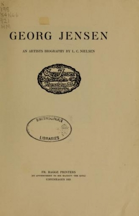 "Cover of ""Georg Jensen"""