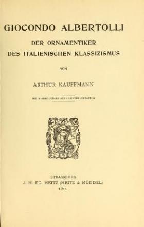 """Cover of """"Giocondo Albertolli"""""""