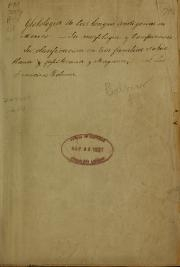 "Cover of ""Glotologia indígena mexicana"""