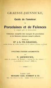 "Cover of ""Graesse-Jaenicke"""