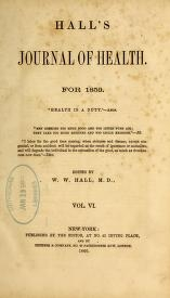 """Cover of """"Hall's journal of health"""""""