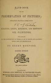 """Cover of """"Hand-book for the preservation of pictures"""""""
