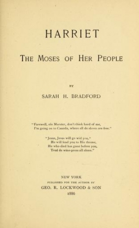 """Cover of """"Harriet, the Moses of her people"""""""