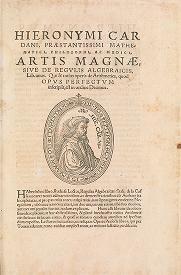 """Cover of """"Hieronymi Cardani, præstantissimi mathematici, philosophi, ac medici Artis magnæ, sive, De regulis algebraicis"""""""