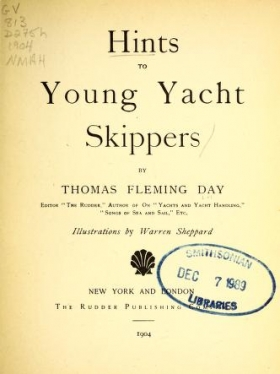 "Cover of ""Hints to young yacht skippers /"""