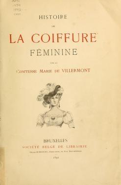 """Cover of """"Histoire de la coiffure feminine"""""""