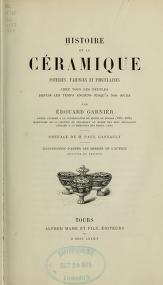 """Cover of """"Histoire de la céramique"""""""