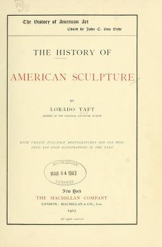 "Cover of ""The history of American sculpture"""