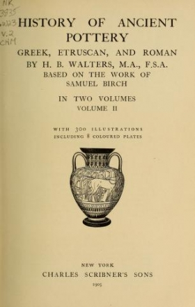 """Cover of """"History of ancient pottery"""""""