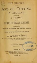 "Cover of ""The history of the art of cutting in England"""