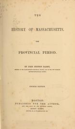 Cover of The history of Massachusetts