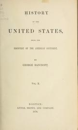 """Cover of """"History of the United States from the discovery of the American continent"""""""