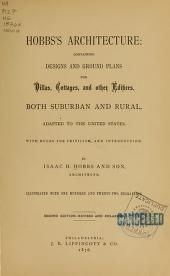 "Cover of ""Hobbs's architecture"""