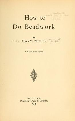 """Cover of """"How to do beadwork"""""""