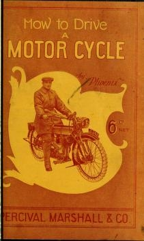 """Cover of """"How to drive a motor cycle"""""""