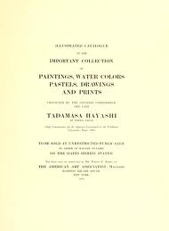 """Cover of """"Illustrated catalogue of the important collection of paintings, water colors, pastels, drawings and prints ..."""""""