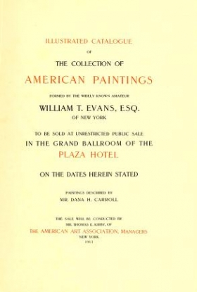 """Cover of """"Illustrated catalogue of the collection of American paintings"""""""