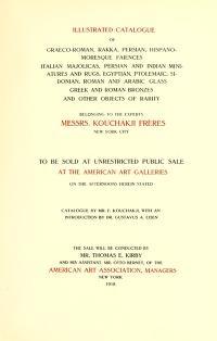 "Cover of ""Illustrated Catalogue of Graeco-Roman, Rakka, Persian, Hispanomoresque Faiences, Italian Majolicas, Persian..."""