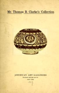 """Cover of """"Illustrated catalogue of the important and interesting collection of beautiful pottery vases of Eastern origin ..."""""""
