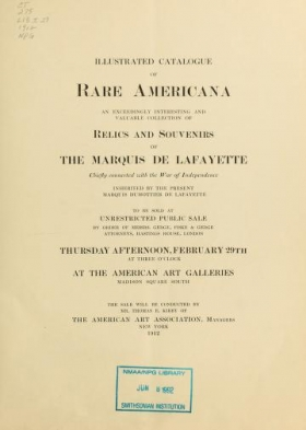 """Cover of """"Illustrated catalogue of rare Americana"""""""