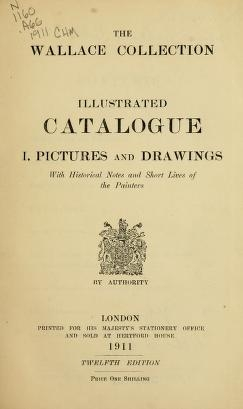 """Cover of """"Illustrated catalogue I"""""""