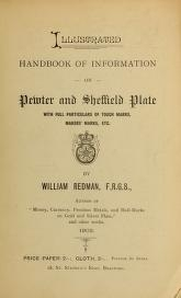 """Cover of """"Illustrated handbook of information on pewter and Sheffield plate"""""""