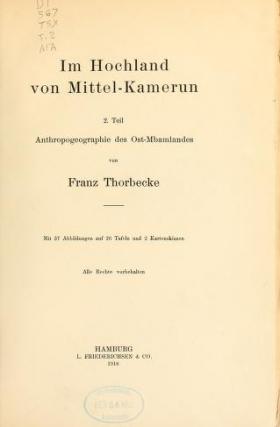 """Cover of """"Im Hochland von Mittel-Kamerun"""""""