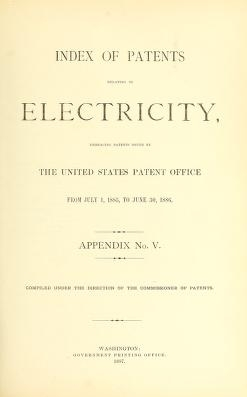 """Cover of """"Index of patents relating to electricity"""""""