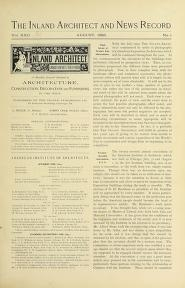 "Cover of ""The Inland architect and news record"""