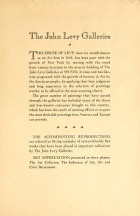 "Cover of ""The John Levy Galleries, New York and Paris"""