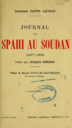 """Cover of """"Journal d'un spahi au Soudan"""""""