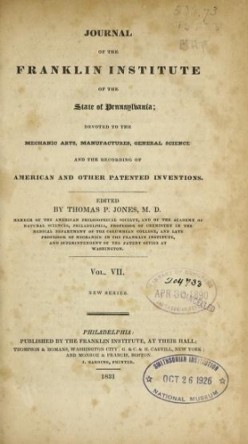 Cover of Journal of the Franklin Institute