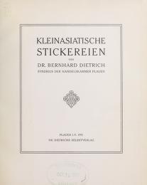 """Cover of """"Kleinasiatische stickereien"""""""