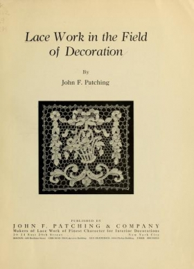 """Cover of """"Lace work in the field of decoration"""""""