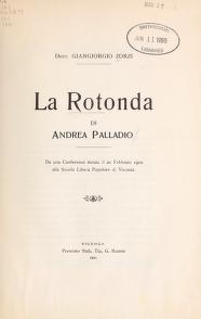 """Cover of """"La Rotonda di Andrea Palladio"""""""