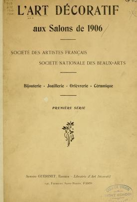 """Cover of """"L'art décoratif aux salons de 1906"""""""