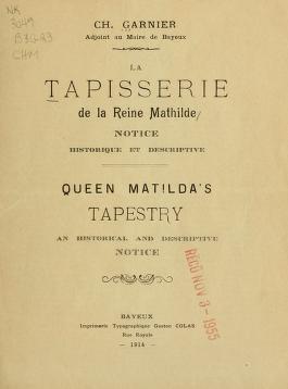 """Cover of """"La tapisserie de la reine Mathilde"""""""