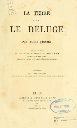 """Cover of """"La terre avant le déluge /"""""""