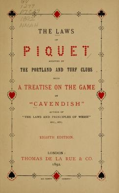 """Cover of """"The laws of piquet"""""""