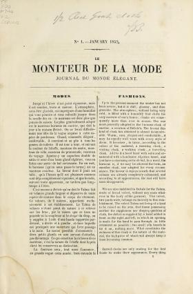 Cover of Le moniteur de la mode