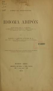 """Cover of """"Lenguas argentinas"""""""