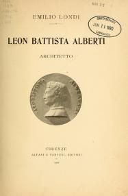 "Cover of ""Leon Battista Alberti, architetto /"""