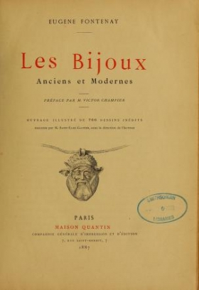 """Cover of """"Les bijoux, anciens et modernes"""""""