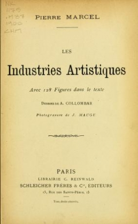 "Cover of ""Les industries artistiques"""